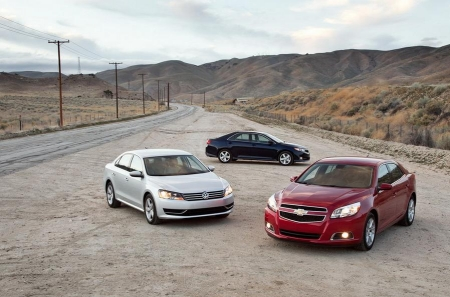 Тест-драйв Hyundai Sonata, VW Passat, Chevy Malibu, Toyota Camry и Honda Accord