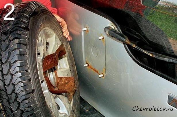 Кронштейн запасного колеса для нивы своими руками